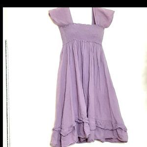 Last Kiss Purple Peasant Style Dress- S